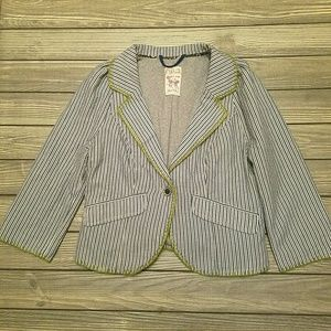 Free people blue and white striped blazer